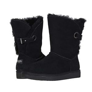 Koolaburra By UGG Remley Black Suede Short Boots